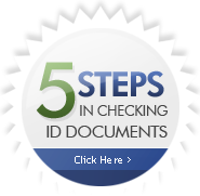 5 steps in ID checking